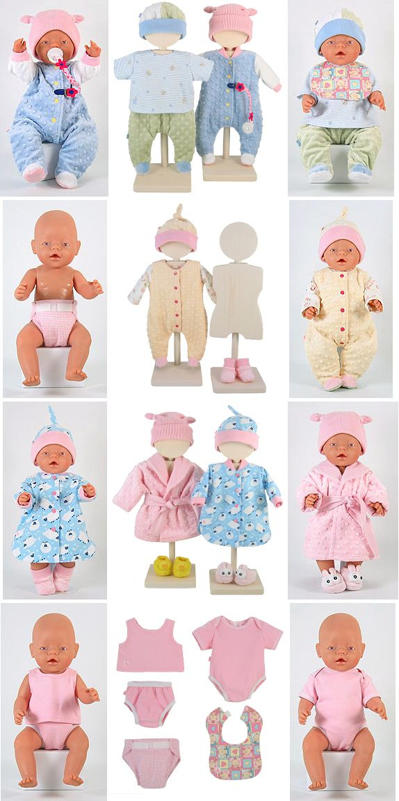 Beautiful baby doll layette sewing patterns fro 43cm dollss LOVE THIS !!!
