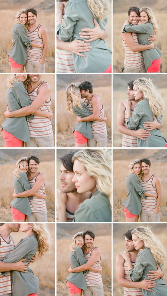 love the way she gets 12 different shots all from basically the same simple pose, a hug.                                                                                                                                                     More