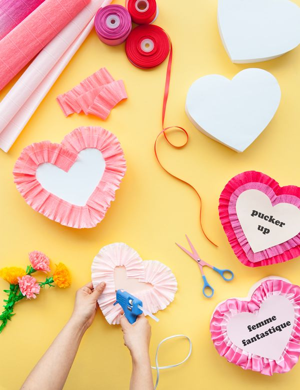 Vintage Valentines Heart Boxes
