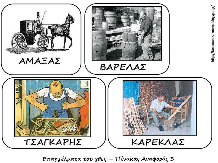 YESTERDAY'S OCCUPATIONS IN GREECE Δραστηριότητες, παιδαγωγικό και εποπτικό υλικό για το Νηπιαγωγείο: ΕΠΑΓΓΕΛΜΑΤΑ