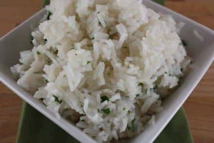 Cilantro lime rice....I wonder if it tastes like Chipotle!