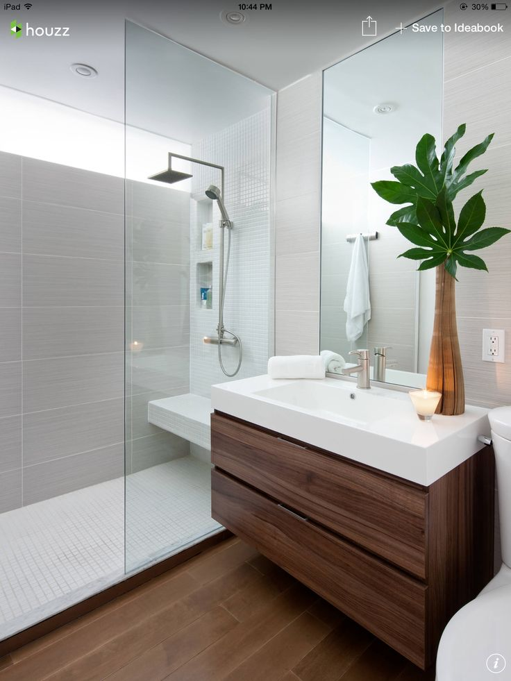 Letting the vanity shine with understated tile bathrooms for Bathroom design samples