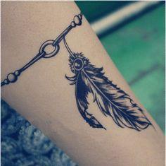 wrist tattoos bracelet style feathers - Google Search