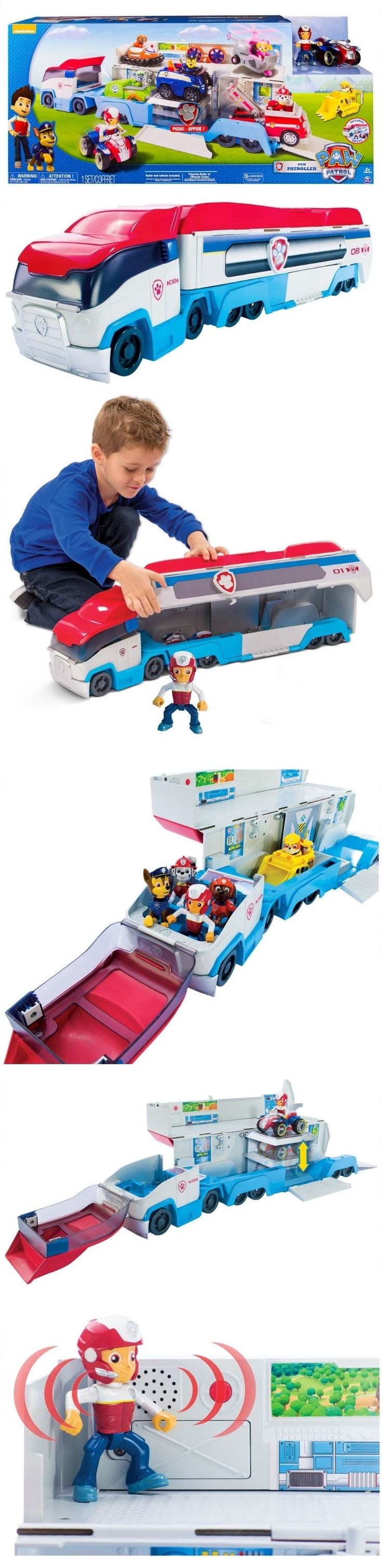 Christmas 2016 for our granddaughter and grandson. The Paw Patroller is the ultimate rescue vehicle the Paw Patrol team uses to  get to exotic adventure locations. The Paw Patroller comes with Ryder and his ATV vehicle and can hold 3 Paw Patrol vehicles inside and can display 6 vehicles when open. Your patrolling will be just like the show when you hear the Paw Patroller's authentic Paw Patrol sounds.  (Three LR44 batteries)