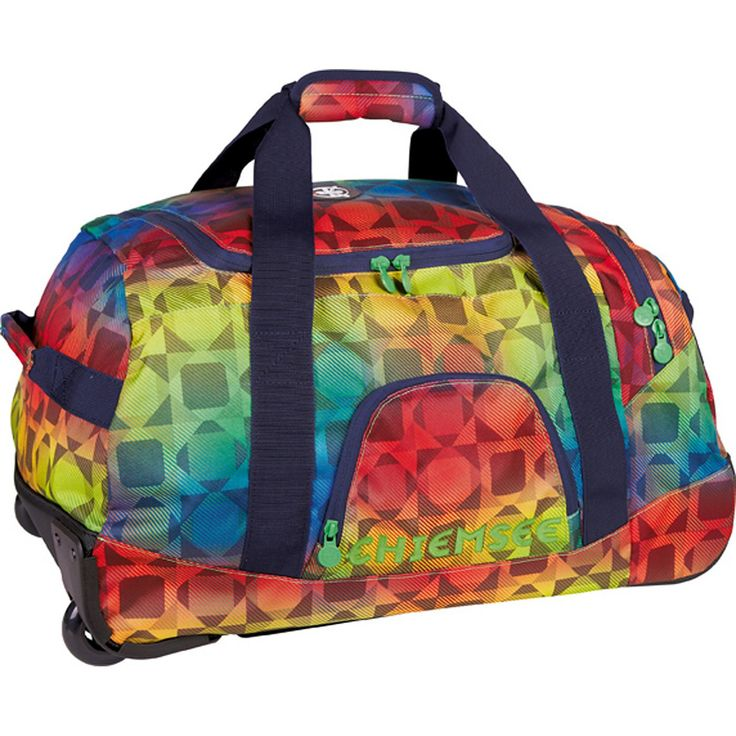 Sport 15 Rolling Duffle Medium Reisetasche 58 cm    Chiemsee Sport Reisetasche mit einem großen Hauptfach, das mit einem Reißverschluss schließt und zudem einen arretierbaren Griff hat. Die Tasche hat Außenfächer und einen Tragegriff.    Serie: Sport  Außenmaße (LxBxH): 58cm x 30cm x 38cm  Gepäckart: Weichgepäck  Gewicht in kg: 2.59kg  Volumen in L ca.: 61-70  Material: Nylon  Ausstattung: Inne...