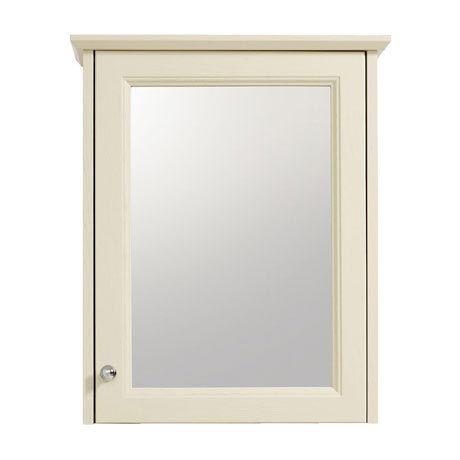 Heritage Caversham Single Door Mirrored Wall Cabinet