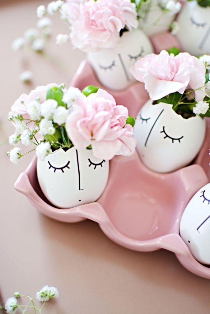 Little Inspiration . DIY . Whimsically illustrated eggshell . { so cute for easter time } .