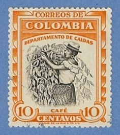 Colombia 652 Used H - Coffee Picker, Caldas - bidStart (item 19509925 in Stamps... Colombia)