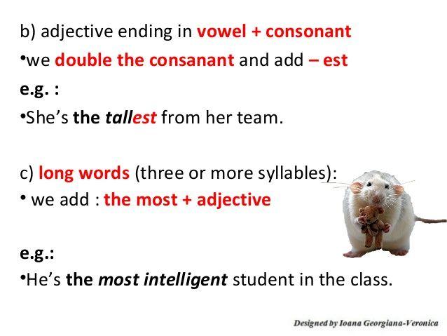 adjectives ending in vowel - Buscar con Google