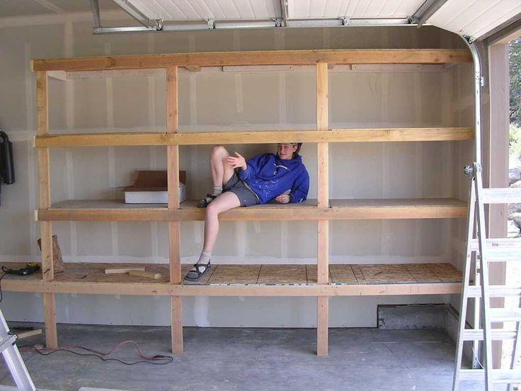 diy garage shelves for your inspiration diy garage. Black Bedroom Furniture Sets. Home Design Ideas