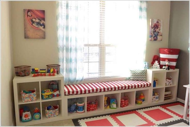 . Transform It Into A Practical Window Seat with Storage for Kids' Room