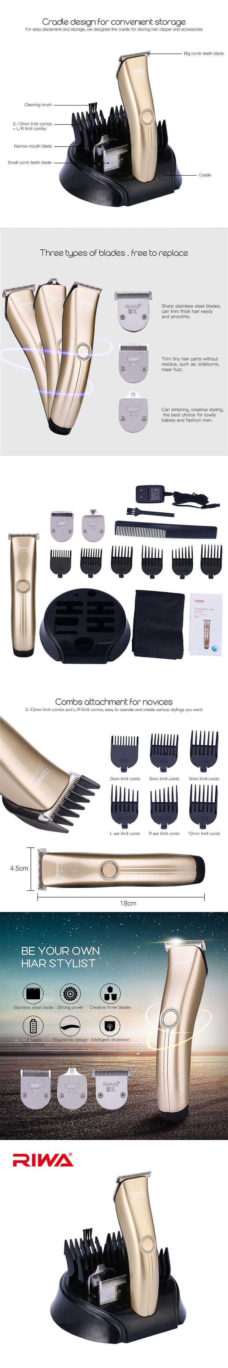 RIWA Clipper Professional Hair Cutting Electric Hair Trimmer Rechargeable Shaver Beard Trimmer Clipper Men Hair Clipper Machine