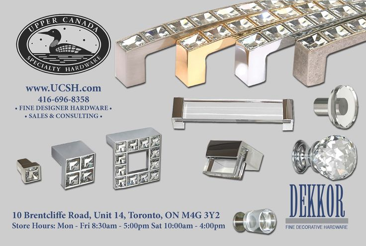 Upper Canada Specialty Hardware is excited to be partnering with Dekkor Hardware in Reno & Décor Magazine! Dekkor has beautiful products that will add beauty and class to any home.