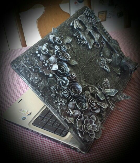 Mixed Media Art - Laptop (c)