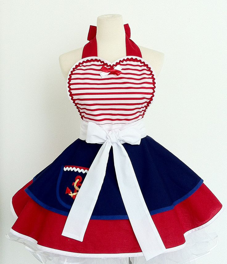 Pin up Girl Sailor Apron by OliviasStudio on Etsy, $62.00