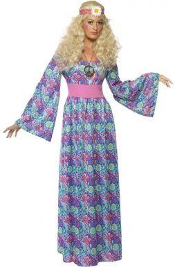 Déguisement  hippie à fleurs femme