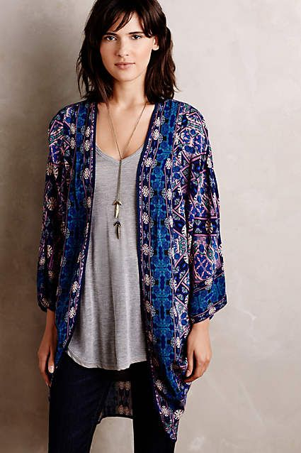 all. the. heart. eyes. // Kawachi Gardens Kimono - anthropologie.com