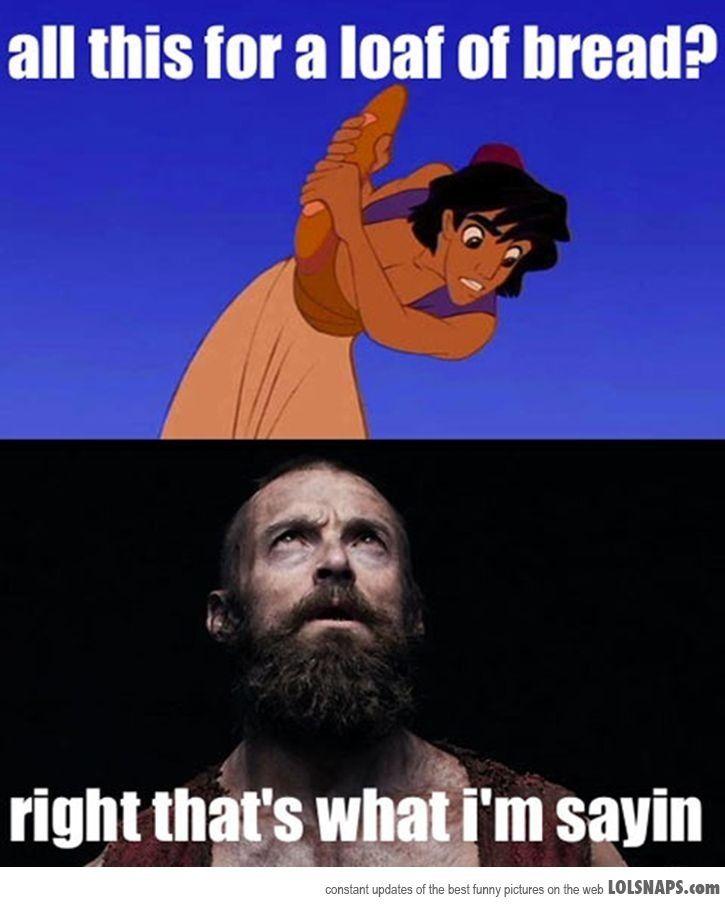Aladdin and Jean Valjean.