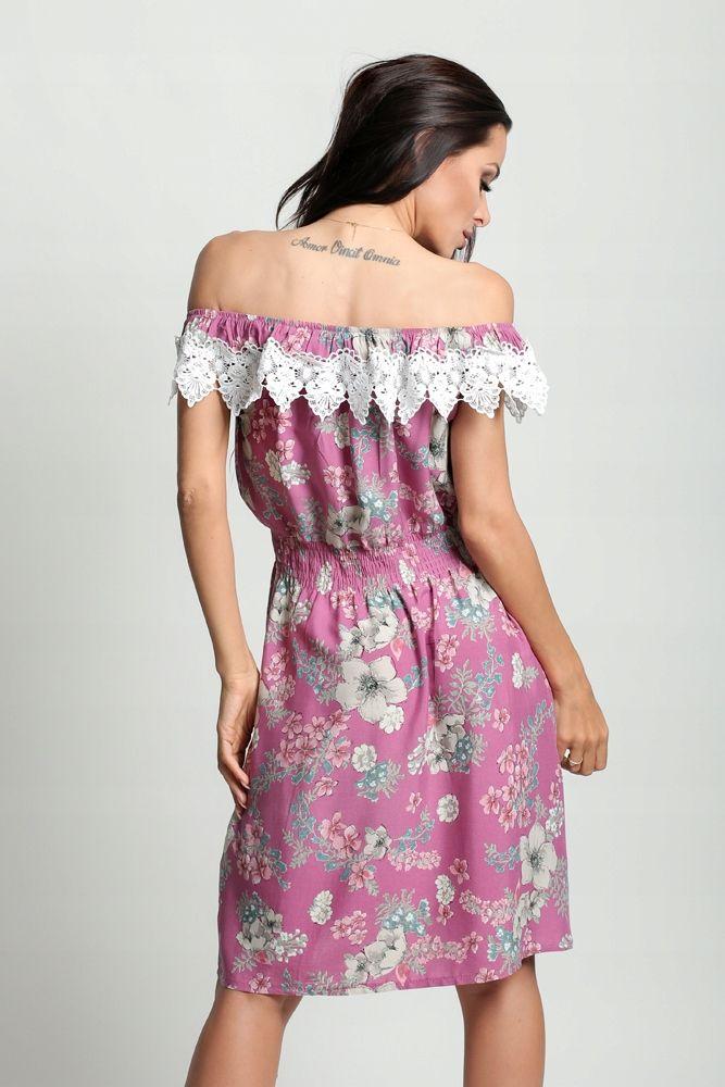Sukienka Mini Wzory Hiszpanka Gipiura D82 W3 7875676361 Oficjalne Archiwum Allegro Dresses Off Shoulder Dress Fashion