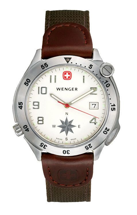 Wenger men 39 s swing out compass swiss watch brand new in box 70370 watch pinterest for Watches with compass