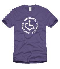 Circle of 3E Love  T-shirt - Purple
