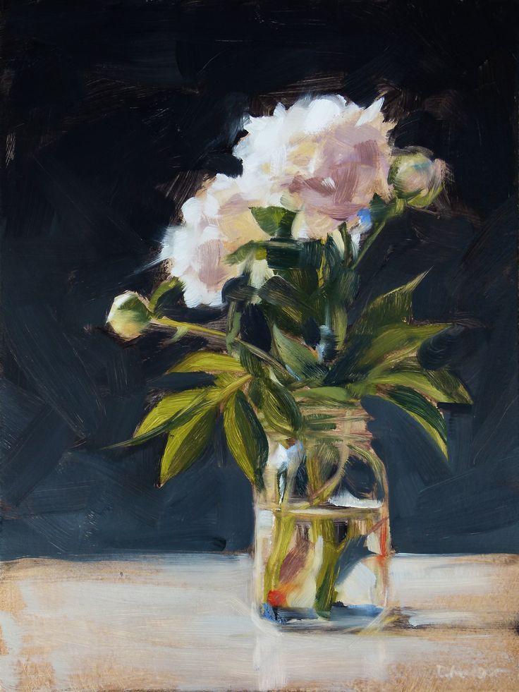Beautiful Deb Anderson peony painting                                                                                                                                                     More