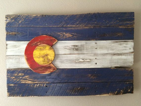 3D Colorado Flag, wall art, wall hanging, reclaimed wood, pallet wood,  distressed, vintage, home decor, handmade - 27 Best Images About Colorado On Pinterest Pallet Boards, Aspen