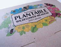 National Trust Plantable Wildflower Calendar by Donna Hall, via Behance
