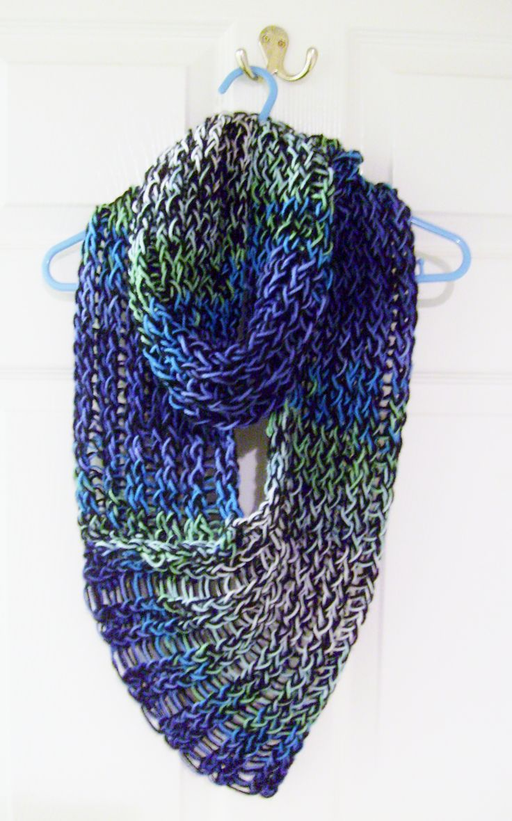 straight loom knitted scarf