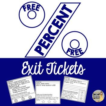 FREE Exit Tickets for an entire Percent Unit!