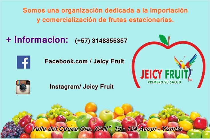 Sigenos en nuestras redes sociales. Facebook / Jeicy Fruit Instagram / jeicyfruit