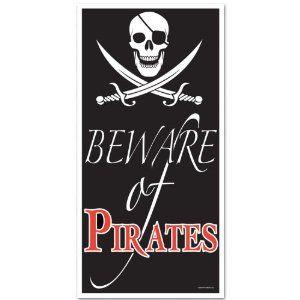 Pirat dør dekoration