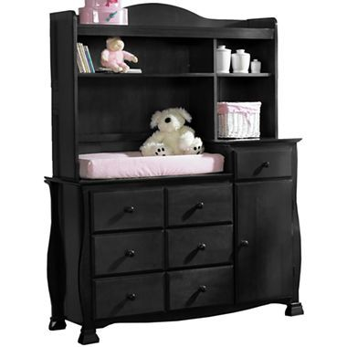 Savanna Bella Changing Table Or Hutch   Black   JCPenney