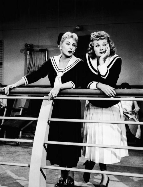 Lucille Ball and Ann Sothern in The Lucy-Desi Comedy Hour