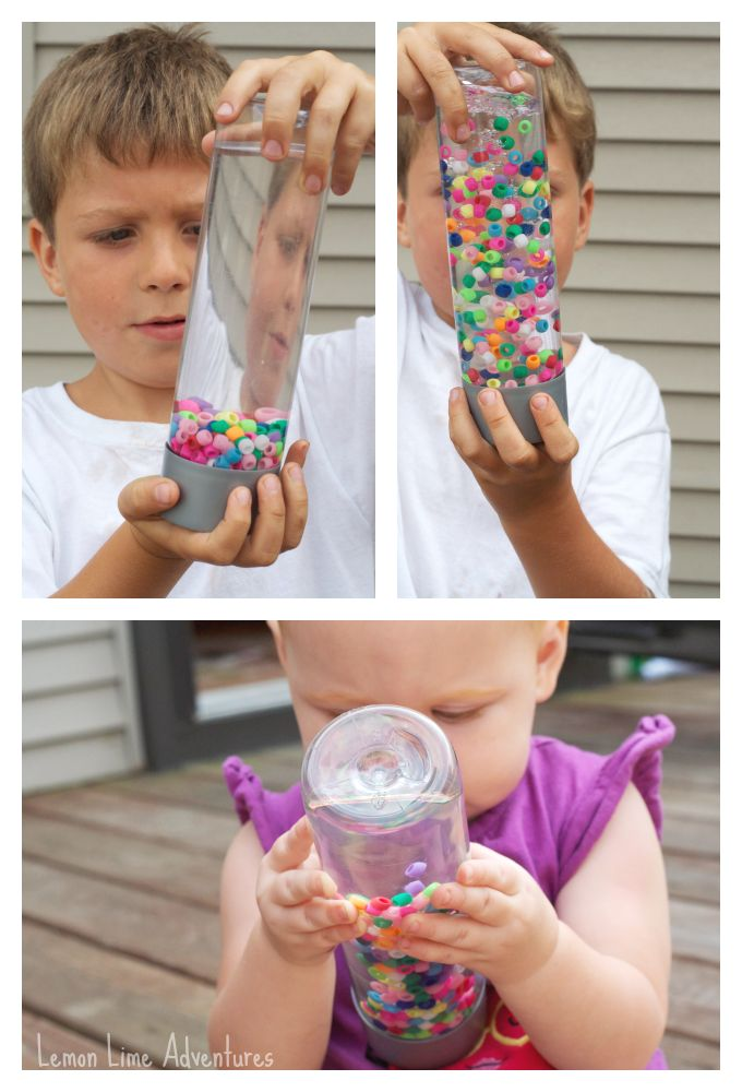 Kids Science: Sensory Bottle with Water and Beads
