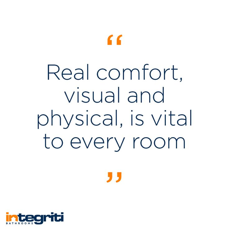 You can very easily imagine being uncomfortable in a room just by looking at it so you're going to want to make sure all the rooms in your house look comfortable, especially the bathroom! #integritibathrooms #custommade #sydneybathroom #interiordesign #bathroom #quote #bathroomrenovation #bathroomremodel #comfort