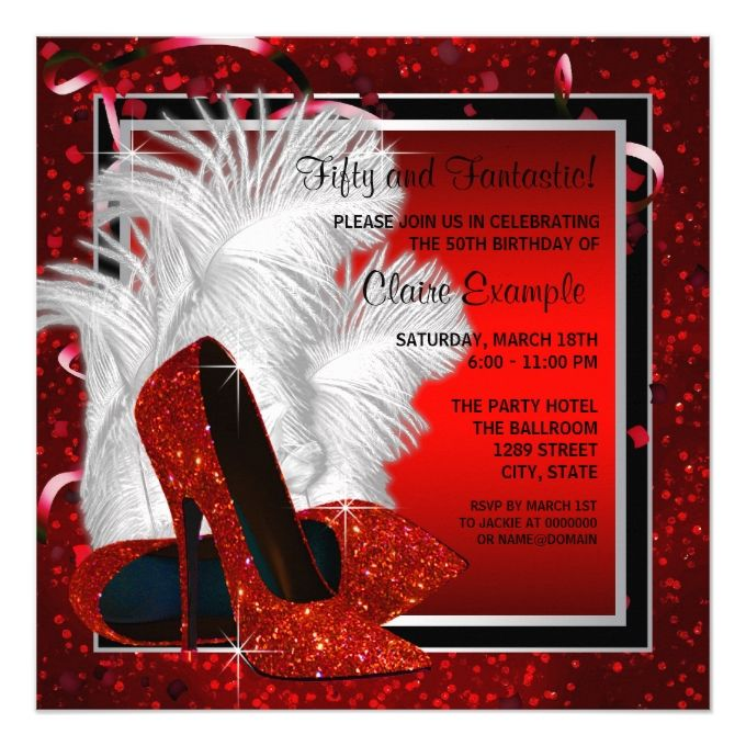29 Best 50th Birthday Party Invitations Images On