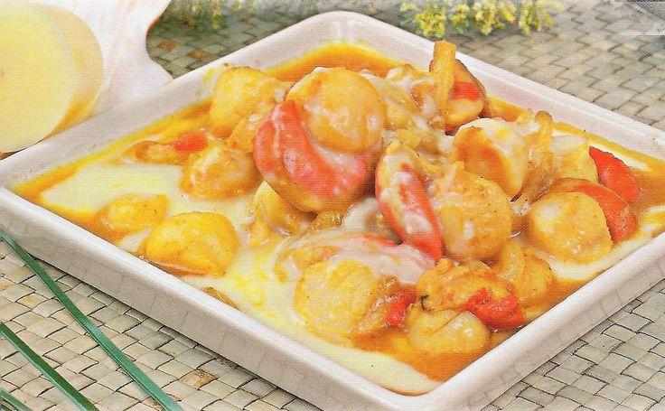 Рецепт приготовления гребешка под сливочным соусом с сыром