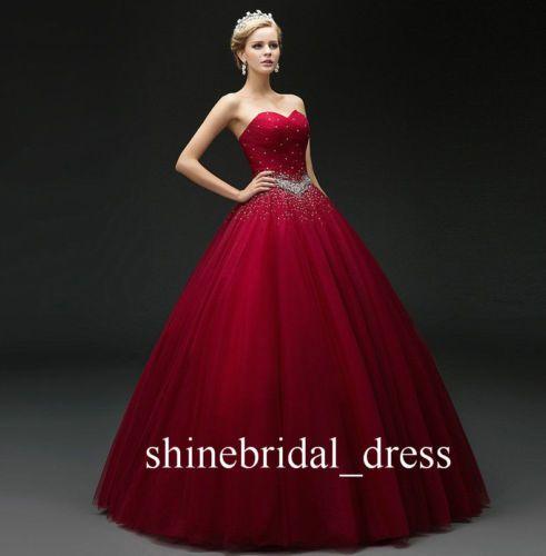 Vestido de boda Princess Quinceañera Vestidos Con cuentas Dulce 15 16 Baile de graduación Formal Noche