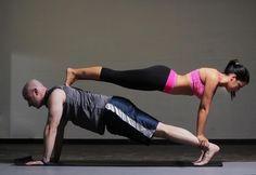 couple yoga stunt  my practice  pinterest