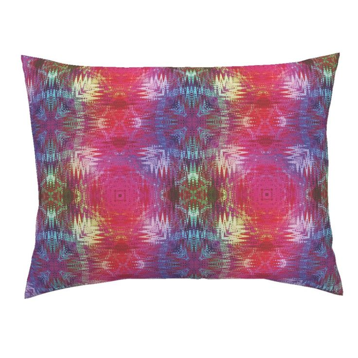 NEW WEAVE KILIM NAVAJO IKAT VIOLET on Campine Pillow Sham by paysmage | Roostery Home Decor