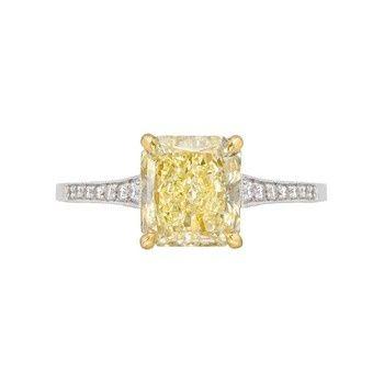 Estate Betteridge Collection Radiant-Cut Yellow Diamond Ring