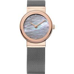 Bering Ladies Steel Rose Plated With Swarovski Crystal Watch (001-019-04127)