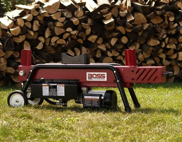 Boss Industrial 8 Ton Electric Log Splitter Ed8t20 Electric Logs Log Splitter Industrial