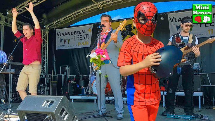 Мини Герои и Человек Паук на концерте в своём Летнем Лагере ( Бельгия )