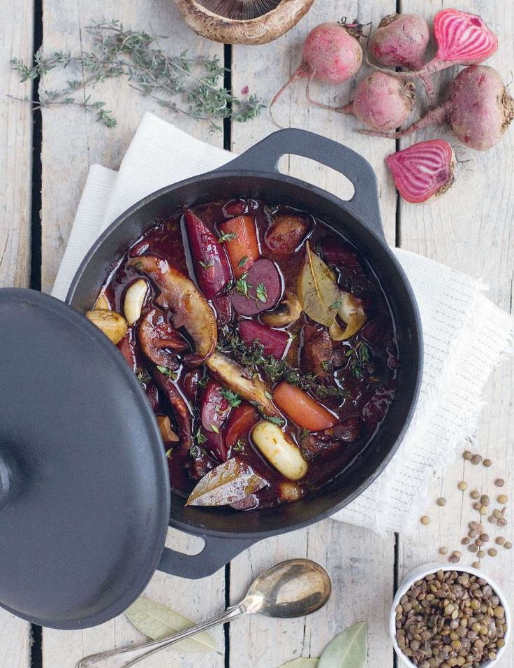 Beet bourguignon by David Frenkiel from The Green Kitchen | Cooked