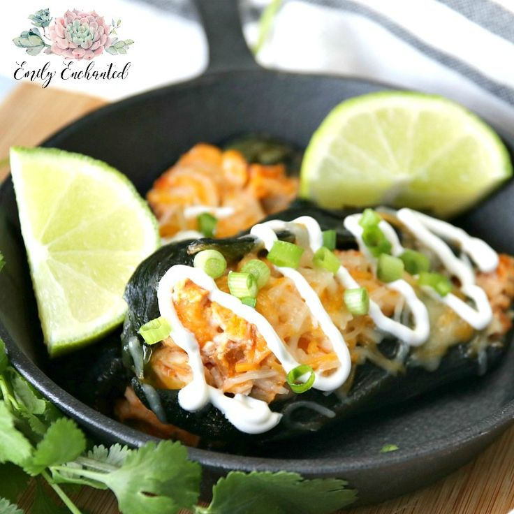 Want a great Mexican dish for dinner? Try this Chicken Stuffed Poblano Peppers Recipe. This mild pepper is manageable, and the flavor comes from pico de gallo, cilantro, and lime juice.