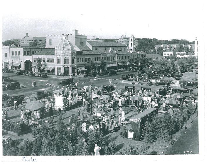 Attendees enjoying the 1932 Plaza Art Fair. 2012 will mark the 80th Anniversary of the Plaza Arts Fair
