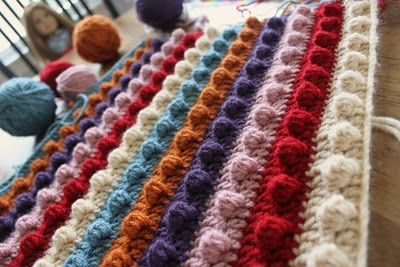 Crochet Popcorn Stitch : Popcorn, Blanket patterns and Stitches on Pinterest