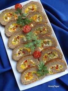 AranyTepsi: Zöldséges-tojásos fasírttekercs
